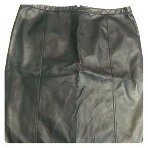 Dresses & Skirts - Faux leather knee length skirt